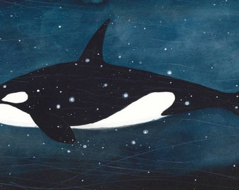 The Sky Whale IX giclee print (25x10cm)