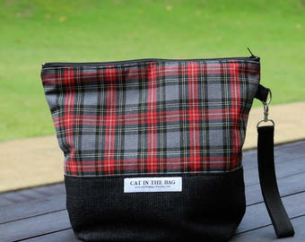 The Crimson Tartan Zipped Wedge Bag