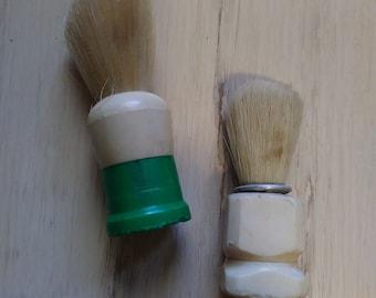 Set of 2 Vintage Shaving Cream Brushes