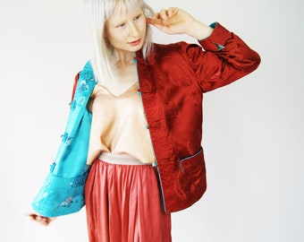 Reversible Satin Chinese Brocade Print Jacket