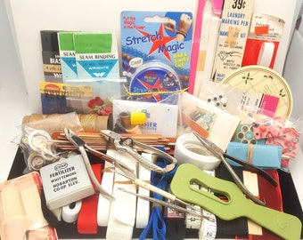 More Tools Added*** - 3 lb Vintage Sewing Lot - Notions, Accessories, Trim, Tools, & More