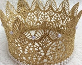GOLD CROWN,Princess Crown,Gold cake topper,Lace Crown,Shabby Chic headband,baby boy crown,Photography Prop,KING CROWNCake Topper!!!