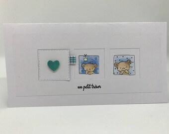 """Treasure"" birth congratulations card"