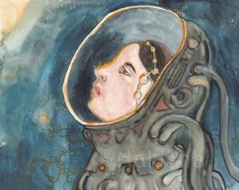 Space Magic - Original Watercolor Painting