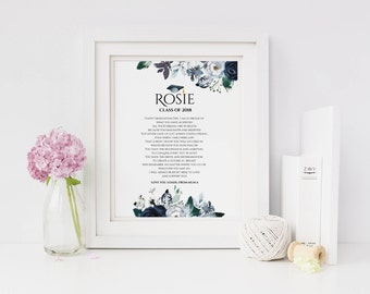 Personalised Graduation Print - Graduation Gift - Graduation Poem - Graduation Art - Graduation Present - Graduate Gift (UNFRAMED)