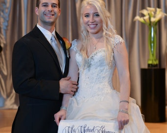 Custom Wedding Dress Patch - Monogrammed Bridal Label