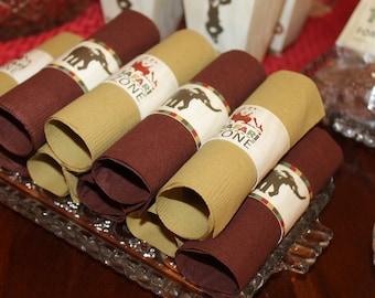 Safari Birthday Napkin Rings, Zoo Birthday Napkin Rings, Jungle Birthday Napkin Rings