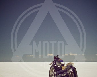 Motorcycle Photo - Triumph Bonneville Salt Flat Racer