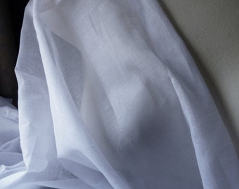 White Muslin Fabric for Jane Austen, Regency Gowns,  Chemise, Lining, Nightgowns, Garments