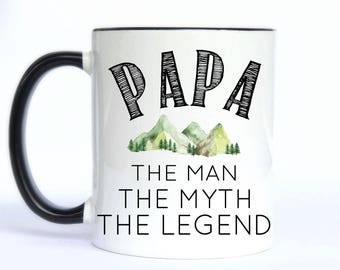 PAPA The man, the myth, the legend/Father's Day/New Dad/Dad gift/Father's Day gift/coffee mug/coffee/mug/coffee cup/DISHWASHER safe