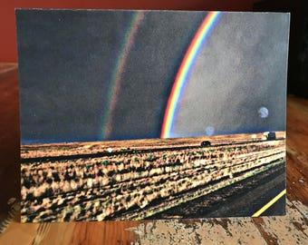 Double Rainbow Notecard
