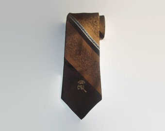 Vintage COUNTESS MARA Necktie / Vtg Mens Tie / Gift for Him / Wedding / High Fashion