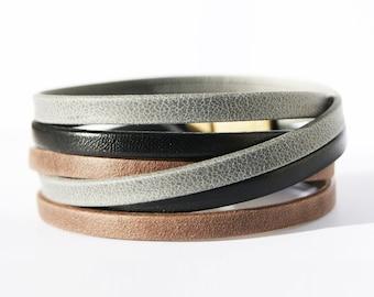 Womens gift Leather wrap bracelet Birthday Gift Womens Leather bracelet Gift for Her Rustic Bracelet Bohemian Jewelry Boho Wrap Bracelet