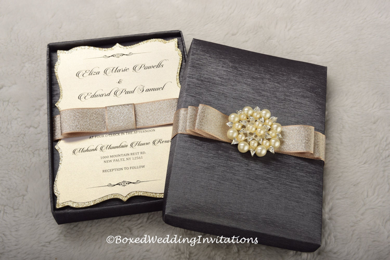 Wedding invitation box invitation box couture invitation zoom solutioingenieria Choice Image