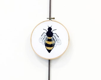 Embroidered Honey Bee