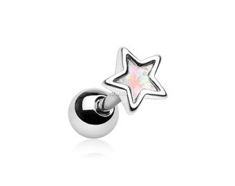 Dainty Opalescent Star Cartilage Tragus Earring