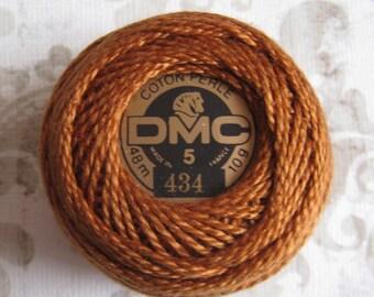 DMC Pearl Cotton Balls Size 5 - 434 Light Brown
