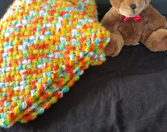 Citrus splash baby blanket