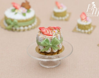 French Apple Charlotte - Miniature Food in 12th Scale for Dollhouse