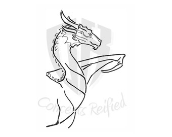 Dragon Bust Reusable Stencil - Multiple Sizes Available