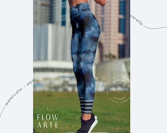 Aerial Yoga Leggings, Leggings, Hooping Clothing, Dance Leggings, Stretchy, High Waisted, aerial, higher waisted fit. Watercolor texture