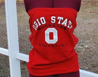 Ohio State Buckeyes Upcycled Womens Strapless Top Shirt Size Small / Medium