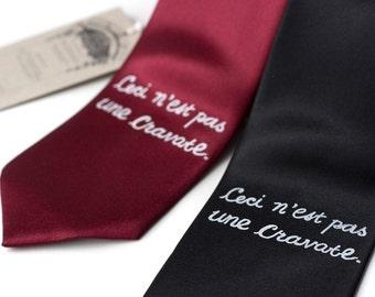 This is not a Tie. Dadaist screenprinted microfiber narrow or standard necktie