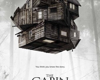 The Cabin In The Woods 2012 Horror Film Movie Poster Print Joss Whedon A3 A4
