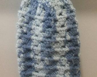 Crochet Hanging Dish Towel, Blue Dishtowel, Dishtowel, Cotton Handtowel, Kitchen Dishtowel, Dishtowel, Kitchen Towel, Handtowel