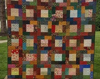 Rosemary - A Jewel-tone Scrap Quilt