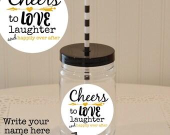 Mason Jar Favor Labels, Printable Wedding Favors, Printable Favor Tags for Mason Jars, Favor Boxes and Bags, Instant Download