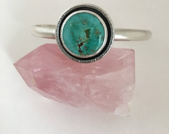 Royston Turquoise Sterling Silver cuff bracelet size m/l