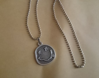 New Nirvana Necklace Smile 925 Silver Plated Pendant