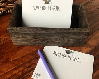 Advice for the Grad Card, 2018 Graduation Party Decor, Class of 2018 Graduation Party Decor, Graduation Party Guestbook