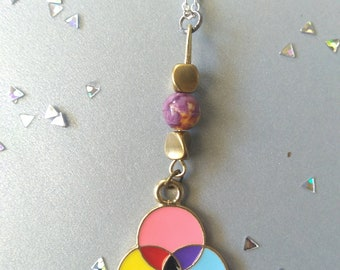 Color Wheel Necklace - 18in/lobster clasp