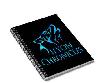 Ilyon Chronicles Blue Wolf Spiral Notebook  Ruled Line