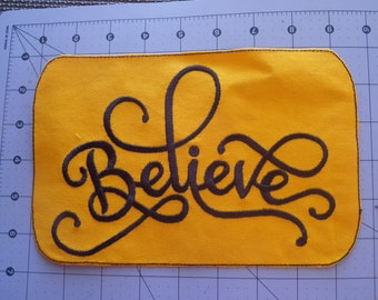 Believe Patch 6x8 inches