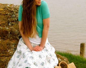 Pistachio Green  Cotton Petticoat Skirt