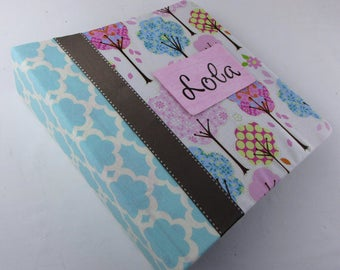 Baby Memory Book Girl Photo Album Chic Tree Girl Baby Book Pregnancy Journal 5x7 4x6 Picture Scrapbook