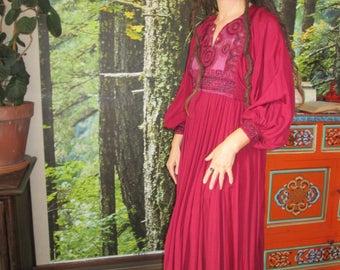 Vintage ,Afghan , india , Mirror work , Hippie  , Boho , dress