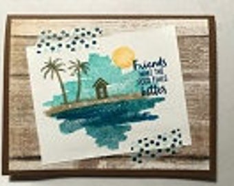 Friends Make Greeting Card with Optional backgrounds