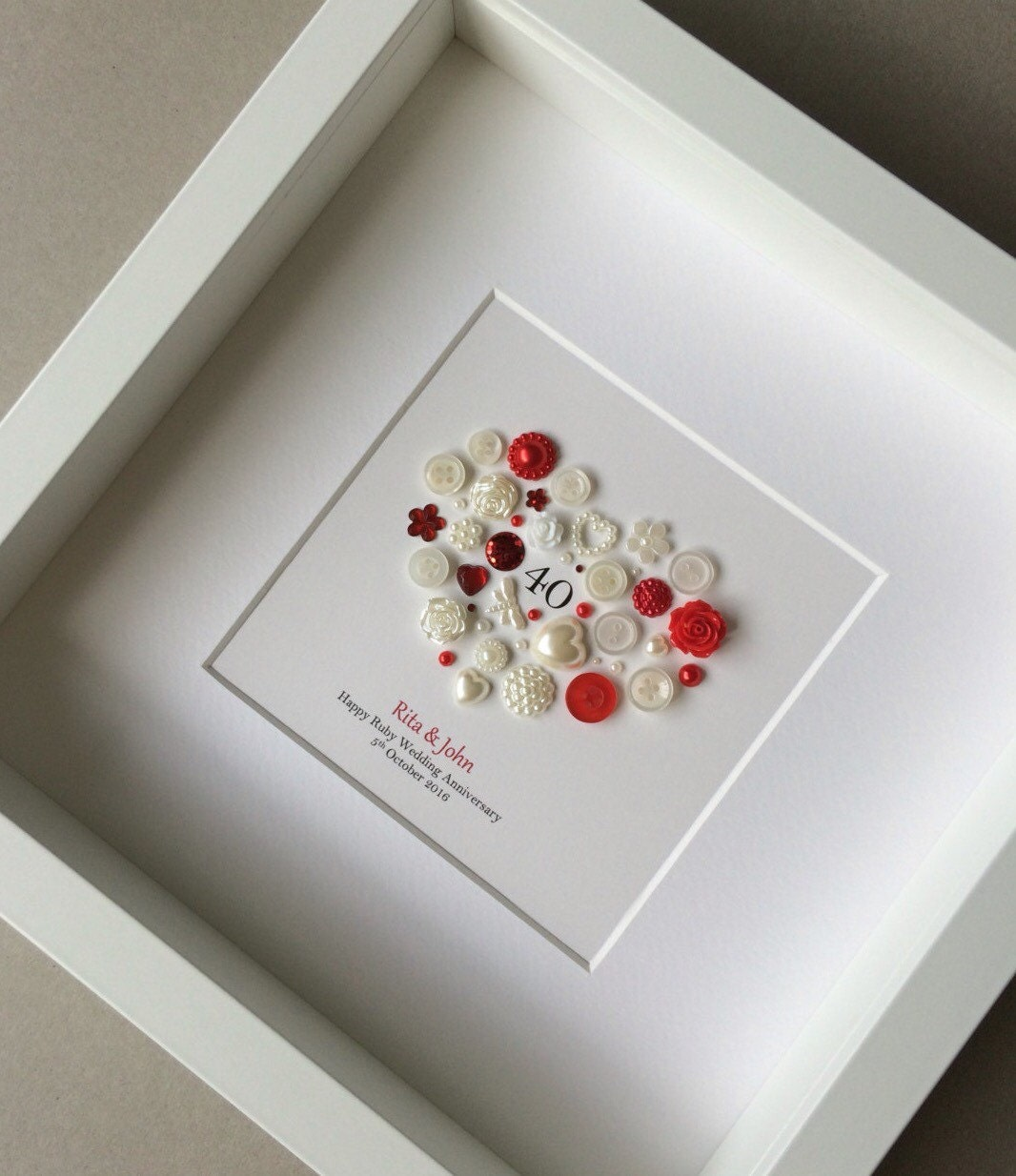 Beautiful 40th Anniversary Gift Ruby Wedding 40th Wedding