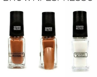 Two if by Scent Collection Brown/Espresso Scented Nail Polish