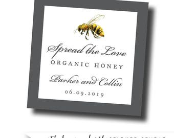 Honey labels, honey favor labels, spread the love stickers, honey stickers