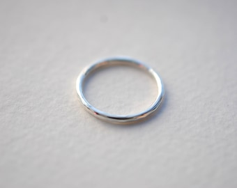 Extra Textured Rustic Sterling Silver Rough Side and Edge Hammered All Sides Texture Hand Fabricated Silver Ring Band