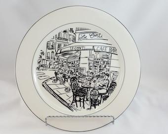 "Mikasa Parisian Scene HK114 Susan Steinburg 10 3/4"" Dinner Plate - Free Shipping"