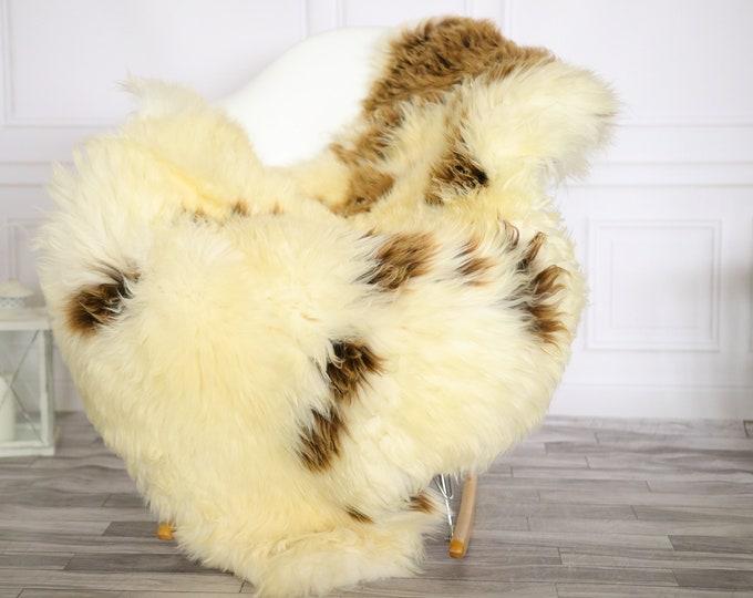 Sheepskin Rug | Real Sheepskin Rug | Shaggy Rug | Chair Cover | Sheepskin Throw | Beige Brown Sheepskin | Home Decor | #Apriher28