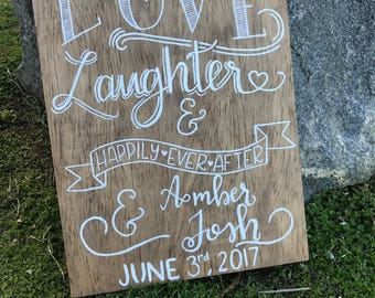 Love, Laughter, and Happily Ever After/ Wedding gift/ Bridal Shower gift/ Anniversary Christmas gift/Valentines Day
