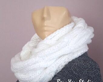 Chunky Knit Infinity Scarf_Knit Infinity Scarf_Winter Infinity Scarf_Neckwarmer Womens Knit_Cable infinity Scarf_Women's Fall Fashion