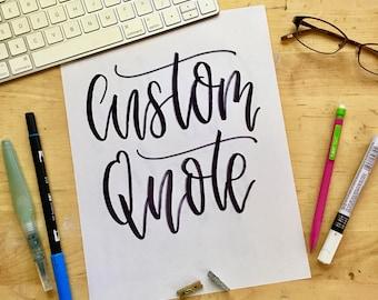 Custom Quote Print | Custom Art | Custom Print